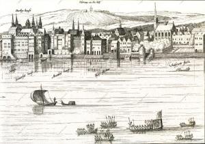 London waterfront - 1616 Visscher