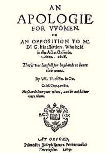 An apology for women - 1608