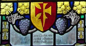 Arms of John Clopton- father of Hugh