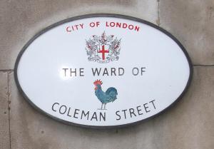 Coleman Street sign