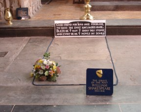 Grave of William Shakespeare