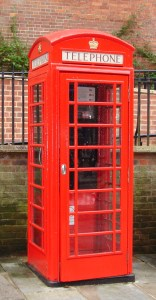 Red telephone box, Guildford