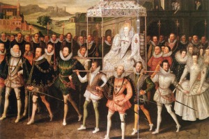 Elizabeth I, procession at marriage of William Herbert - 1600