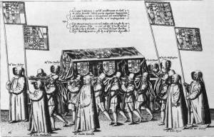 Funeral procession of Sir Philip Sidney - 1587
