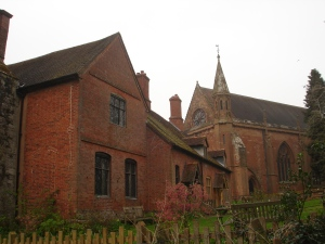Old Hall and church Temple Balsall KHB
