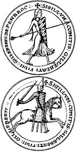 Seal Gilbert FitzGilbert de Clare 2nd Earl of Pembroke