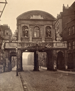 Temple Bar - original position in Fleet Street