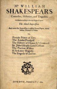 Third folio - second edition