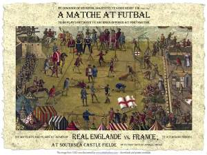 Futbal - England v France at Southsea Field